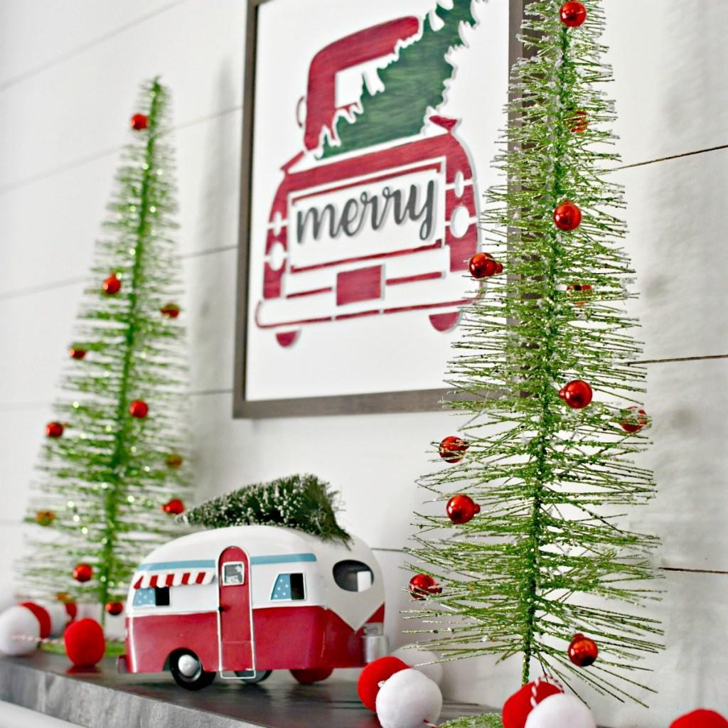 Hobby Lobby Christmas Styled Mantel