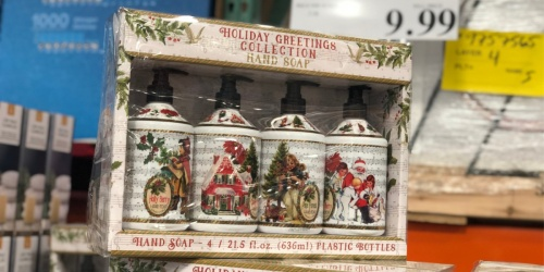 Holiday Greetings Collection Hand Soap 4-Pack Just $9.99 at Costco