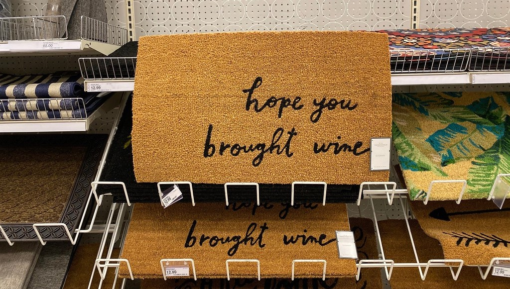 Hope You Brought Wine Target Rug