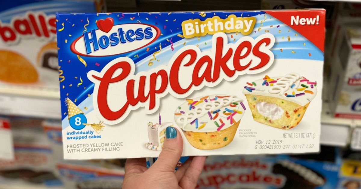 Excellent Save On New Hostess Birthday Cupcakes At Target Personalised Birthday Cards Veneteletsinfo
