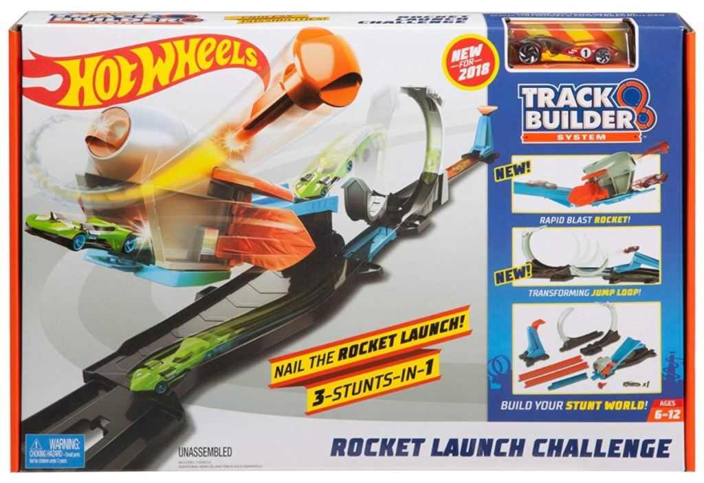 Hot Wheels Track Builder Rocket Launch Challenge Play Set in box