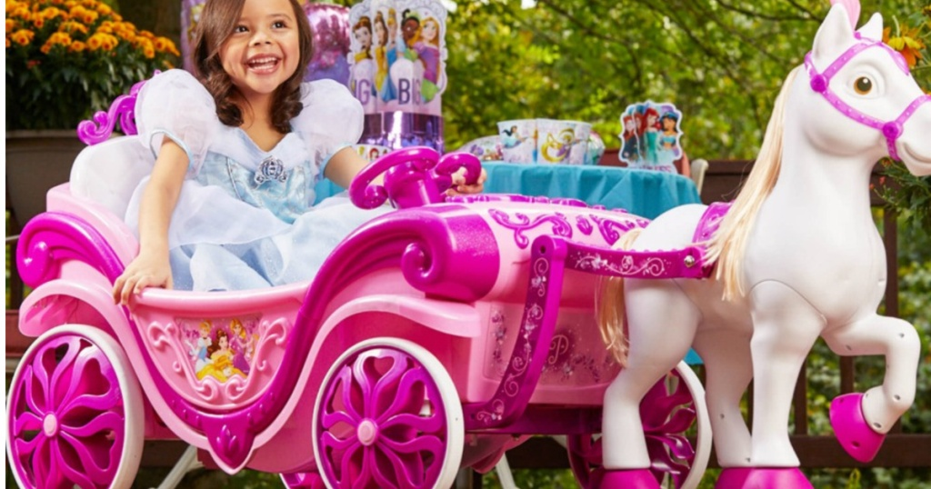 Disney Princess Horse & Carriage Ride-On Toy