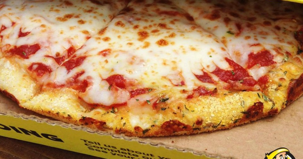 Hungry Howie's Cheese Pizza in box