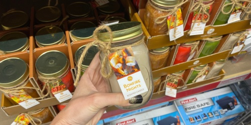 New ALDI Fall Mason Jar Candles Only $4.99 | Bonfire Nights, Apple Orchard & More
