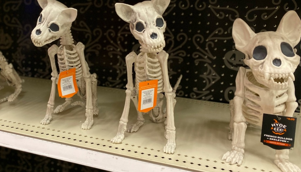 Three Skeleton dogs on display at store in Target