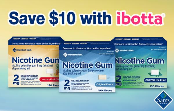 Ibotta gum rebate at Sam's