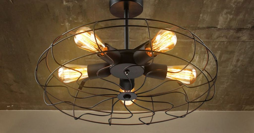 Industrial Vintage Hanging Chandelier w/ 5 Lights