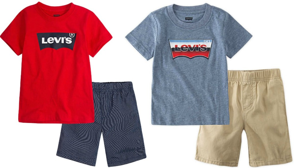 Levi's brand infant 2-piece outfits