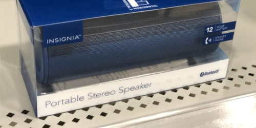 Insignia Wave Portable Bluetooth Speaker Just $12.99 at Best Buy (Regularly $40)
