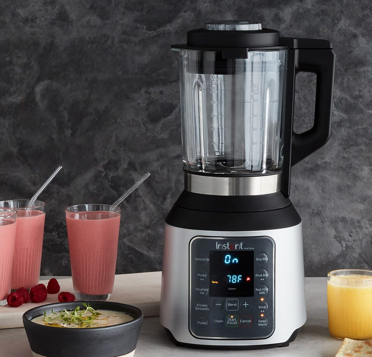 Instant Pot Ace Nova with soup and smoothies