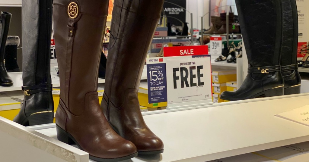 JCP Riding Boots on display