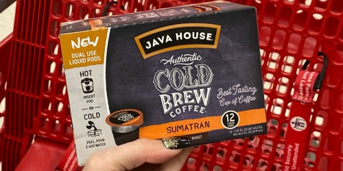 Java House Cold Brew K-Cups Only $4.99 After Cash Back at Target (Regularly $12)