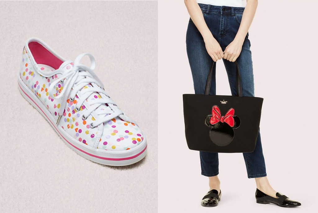 Kate Spade Confetti Shoes and Minnie Tote