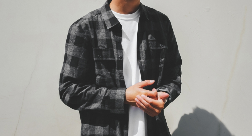 Kenneth cole flannel over t-shirt