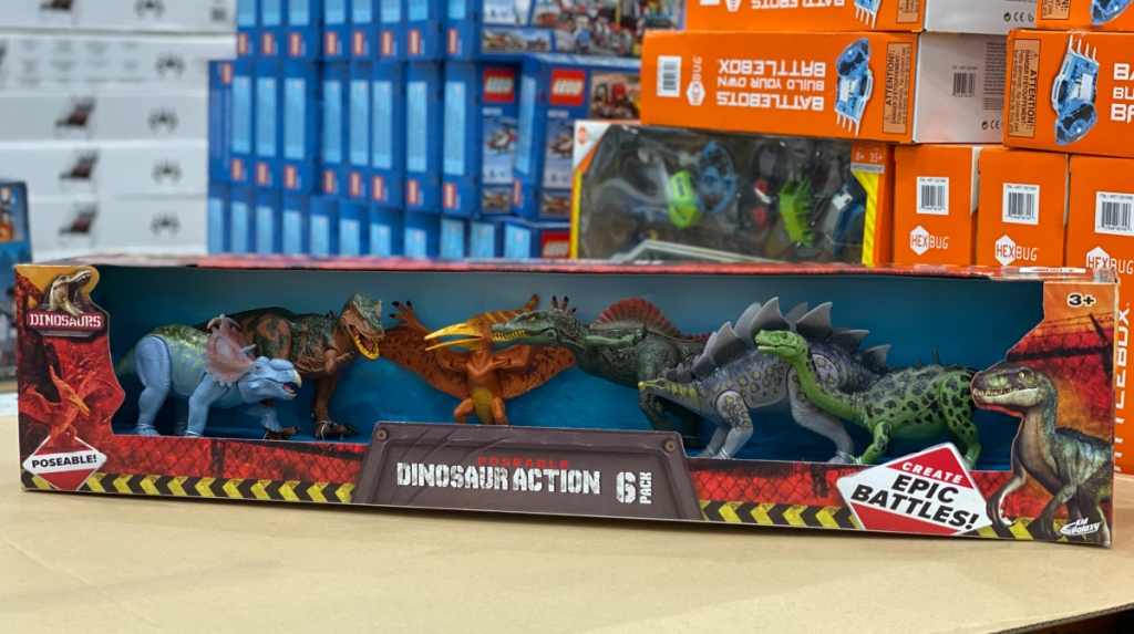Kid Galaxy Poseable Dinosaurs 6-Count