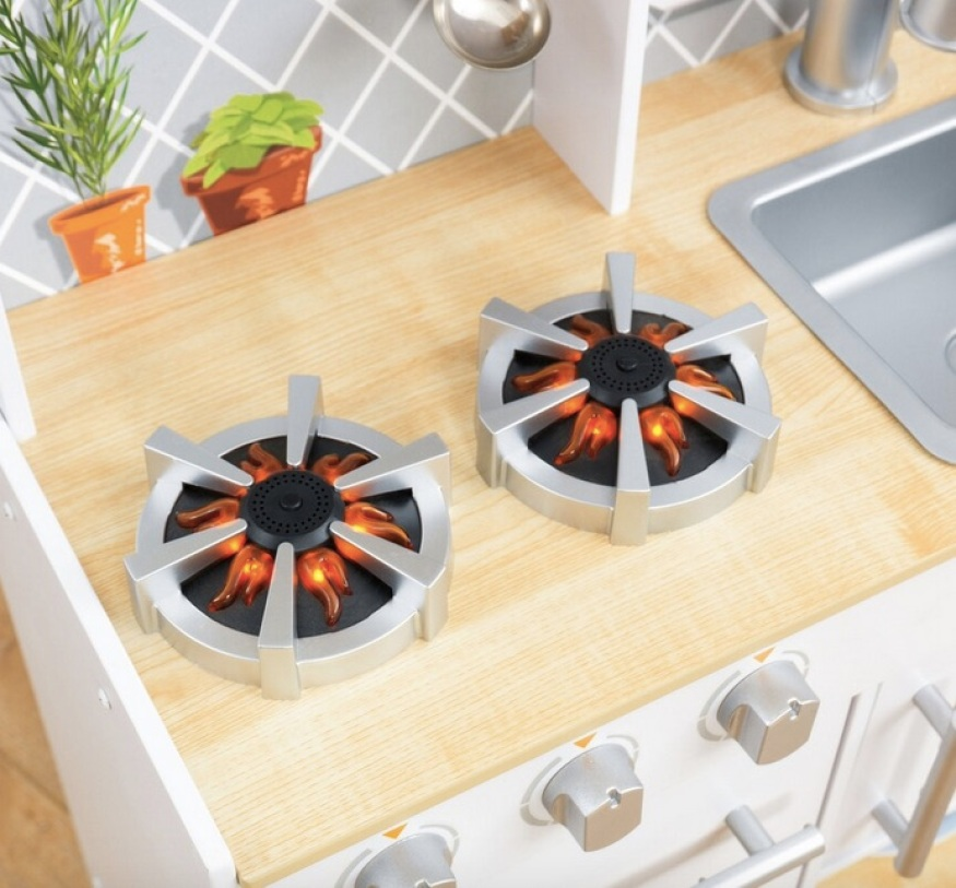 Kitchen burners with lights and sounds