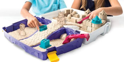 2-Pounds of Kinetic Sand + Folding Sandbox Only $19.97 (Regularly $30) | Never Dries Out