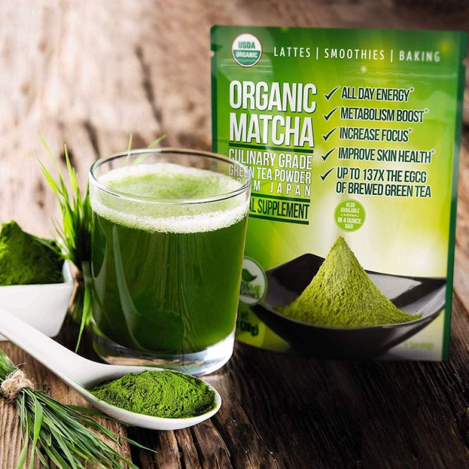 Kiss Me Organics Organic Matcha Green Tea Powder