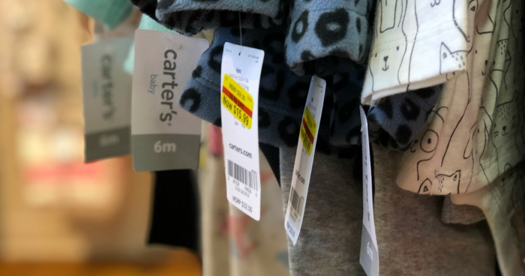 Kohl's Carter's Clearance Tag