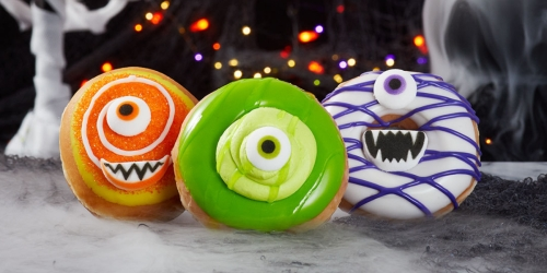Krispy Kreme Monster Doughnuts Available Now & You Can Score One Free on Halloween