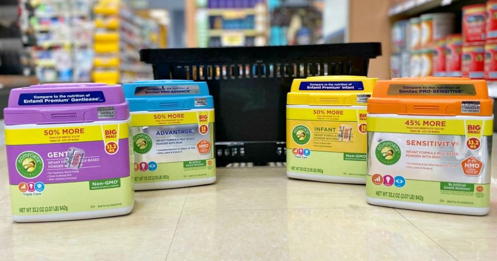 Kroger Comforts baby formulas at Kroger