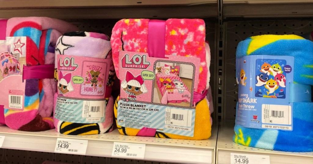 L.O.L. Surprise! Twin Glitter Gals Bed Blanket