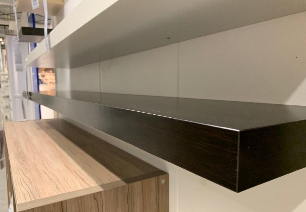 black and white IKEA shelves