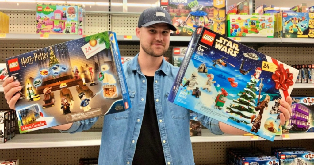LEGO Advent Calendars in Walmart with Stetson