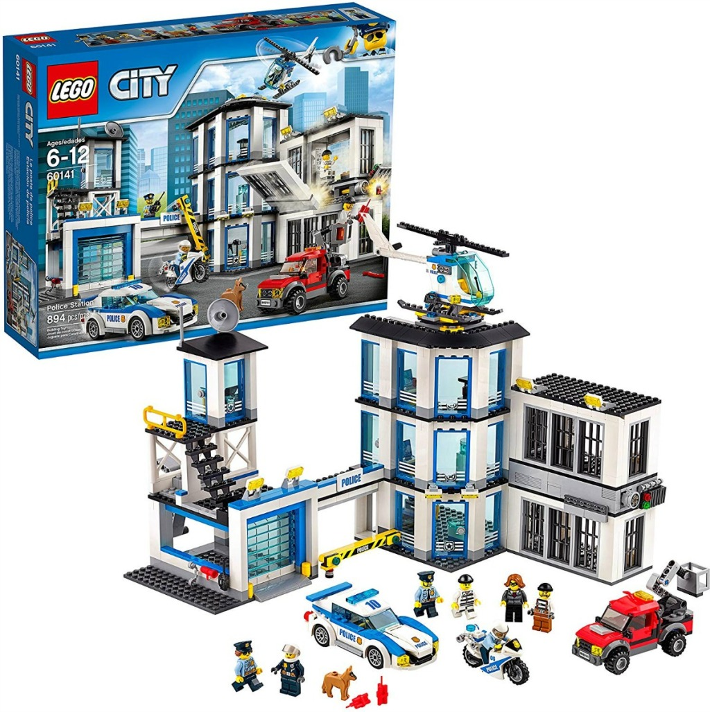 LEGO City Police Station set in and out of box