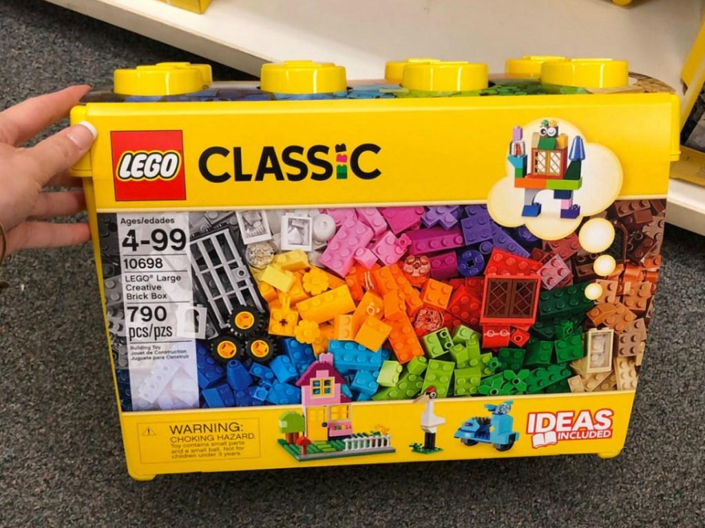LEGO Classic Creative brick box in hand in store