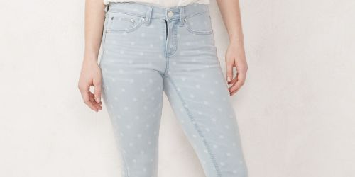 LC Lauren Conrad Jeans & Shorts as Low as $9.51 Each at Kohl's