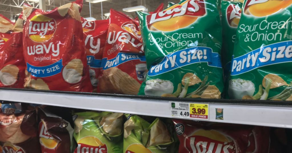 Lay Party Size Chips in Kroger