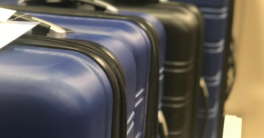 Luggage at a store