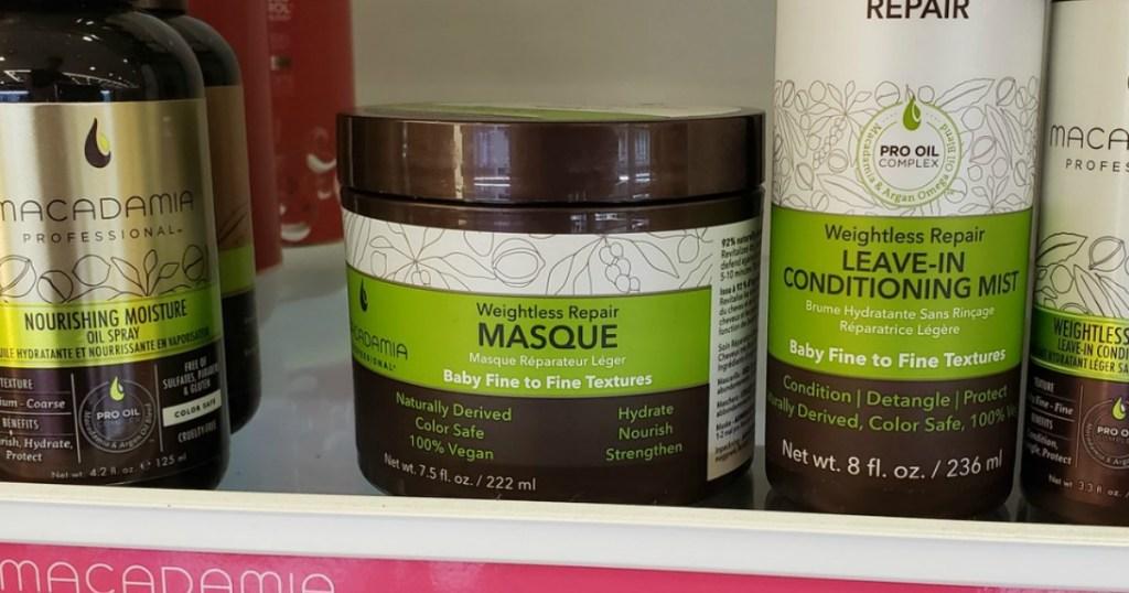Natural haircare products on shelf at ULTA