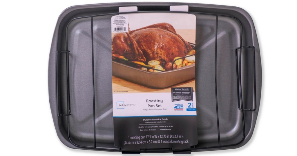 Mainstays 2-Piece Roaster with Rack