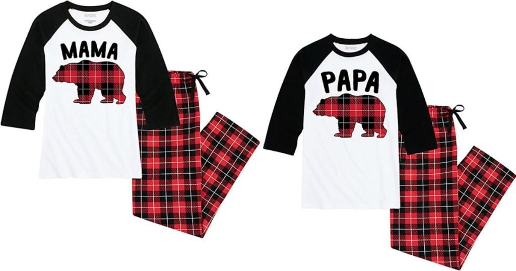 Mama and Papa Bear Pajamas