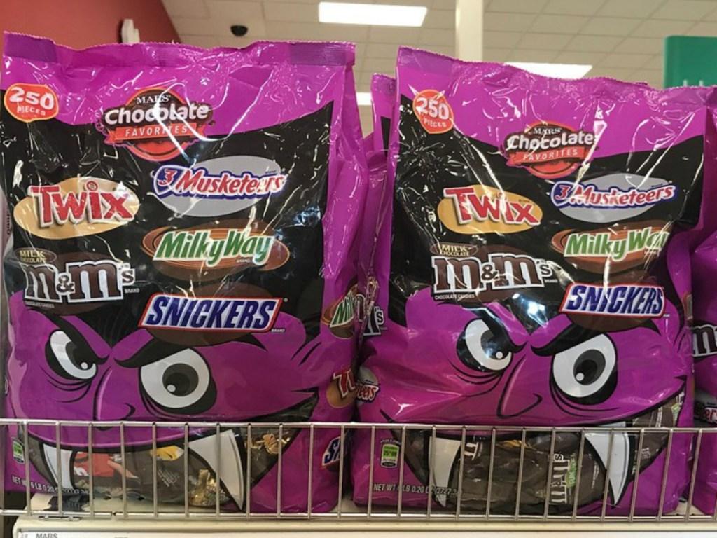 bags of Mars chocolate