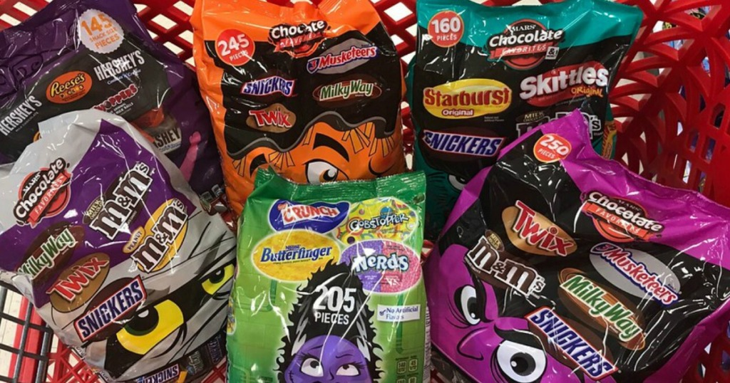 various bags of mars candy