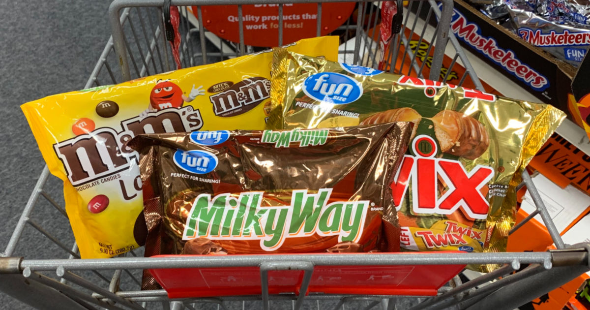 Mars Chocolate candy in cart