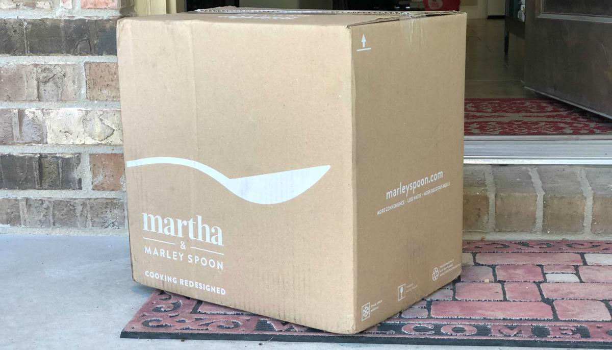 Martha Marley Spoon box on porch