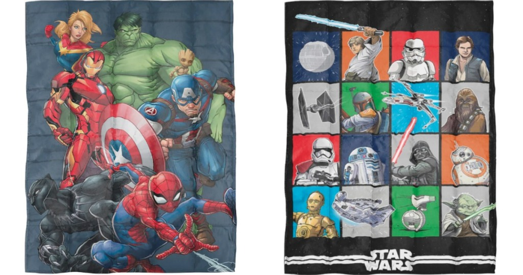 Marvel and Star Wars Weighted Blankets