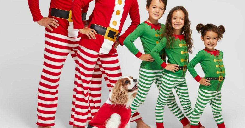 Family Christmas Pajamas Including Dog.Matching Family Christmas Pajamas Now At Target