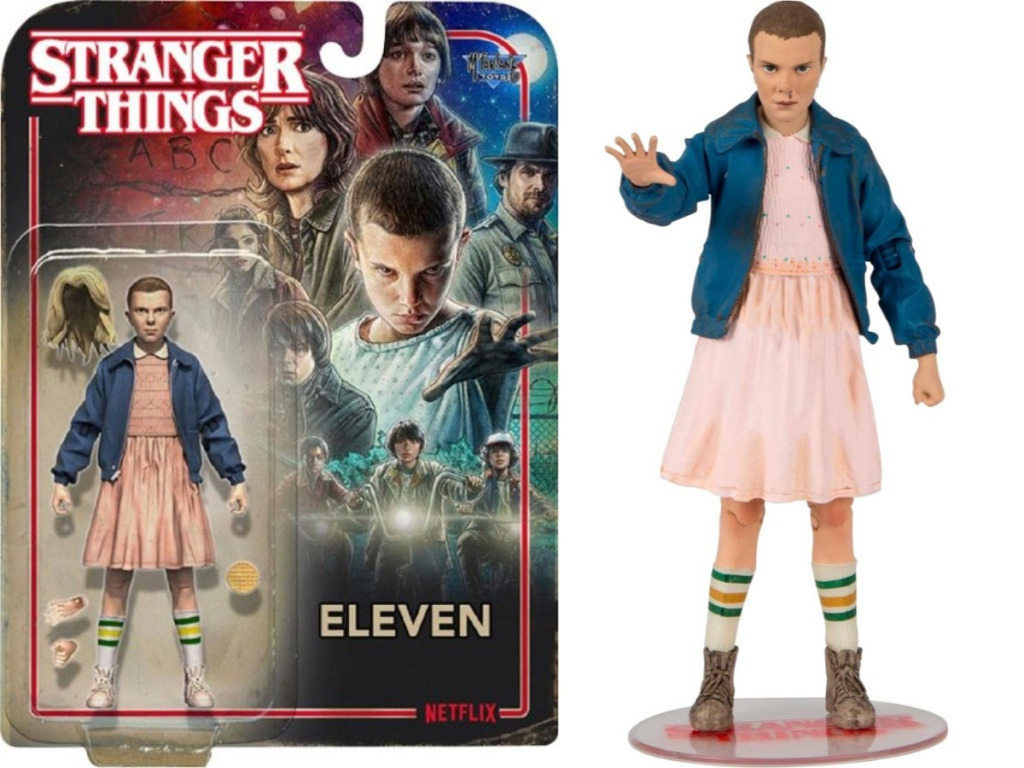 stranger things action figure and box