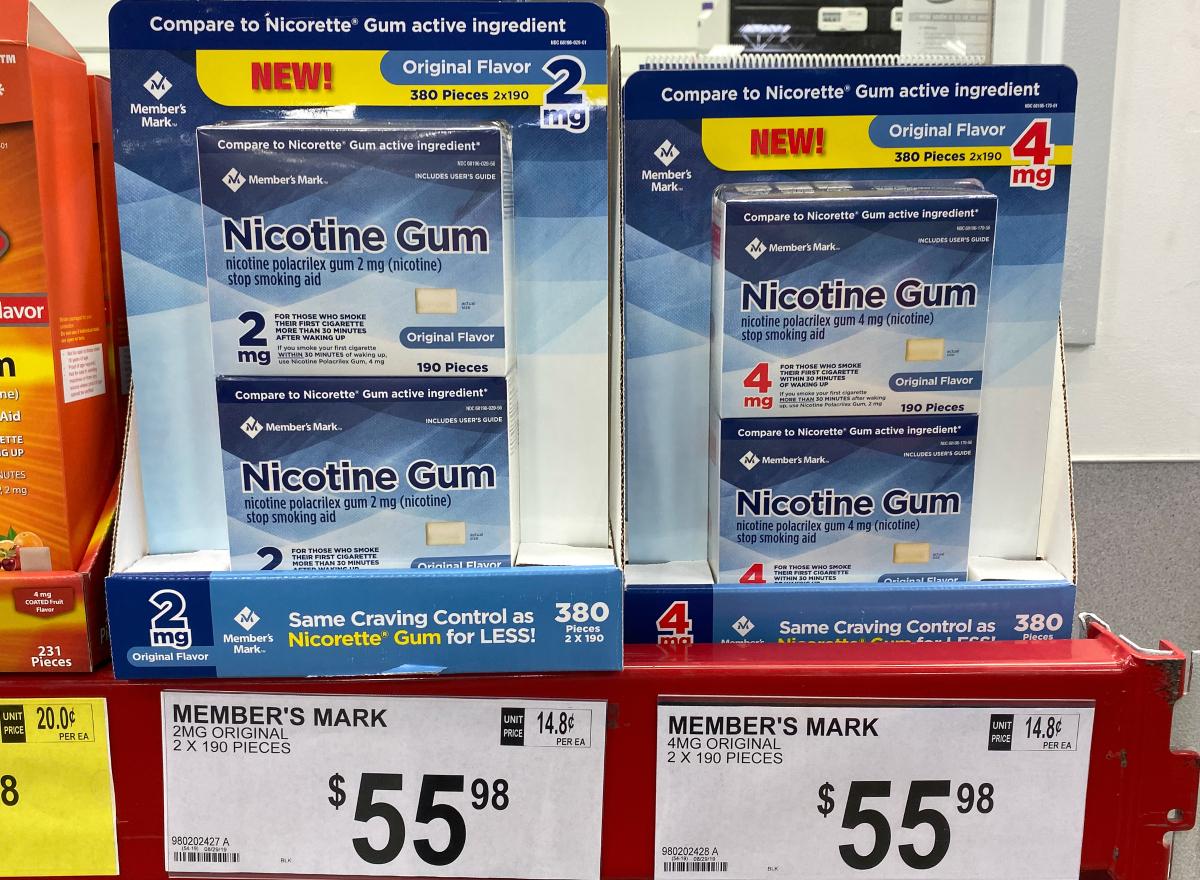 Member's Mark Nicotine Gum Original