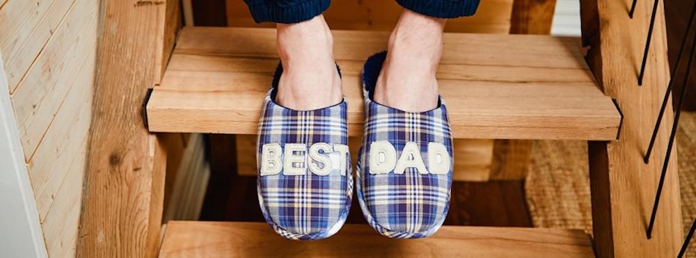 Men's Best Dad Closed Toe Scuff
