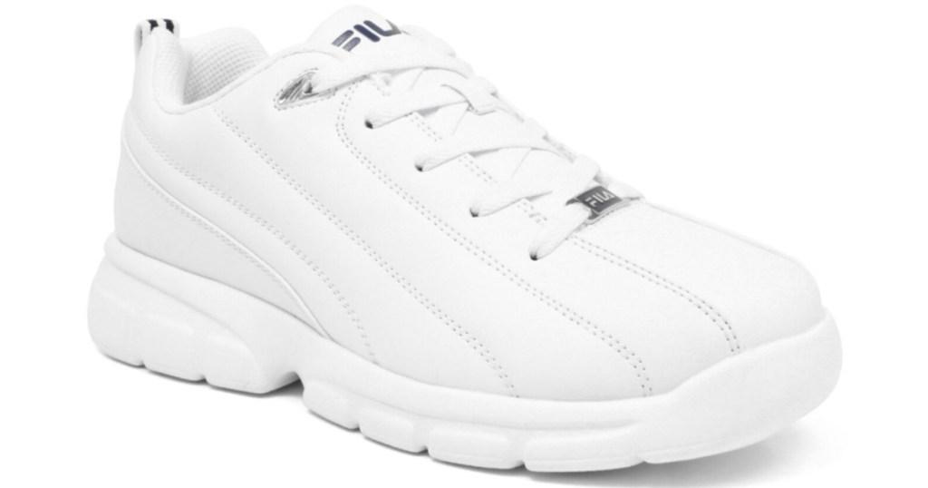 mens white fila shoes