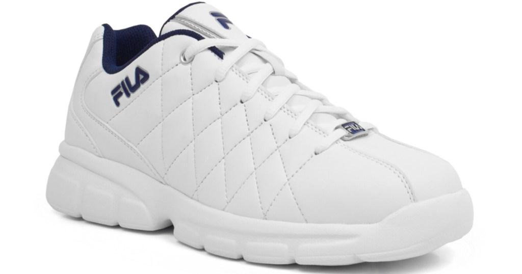 mens white and black fila shoes