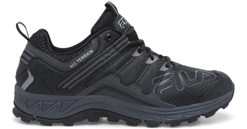 mens black fila shoes