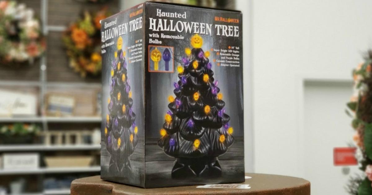 Michaels Haunted Halloween Tree in-store