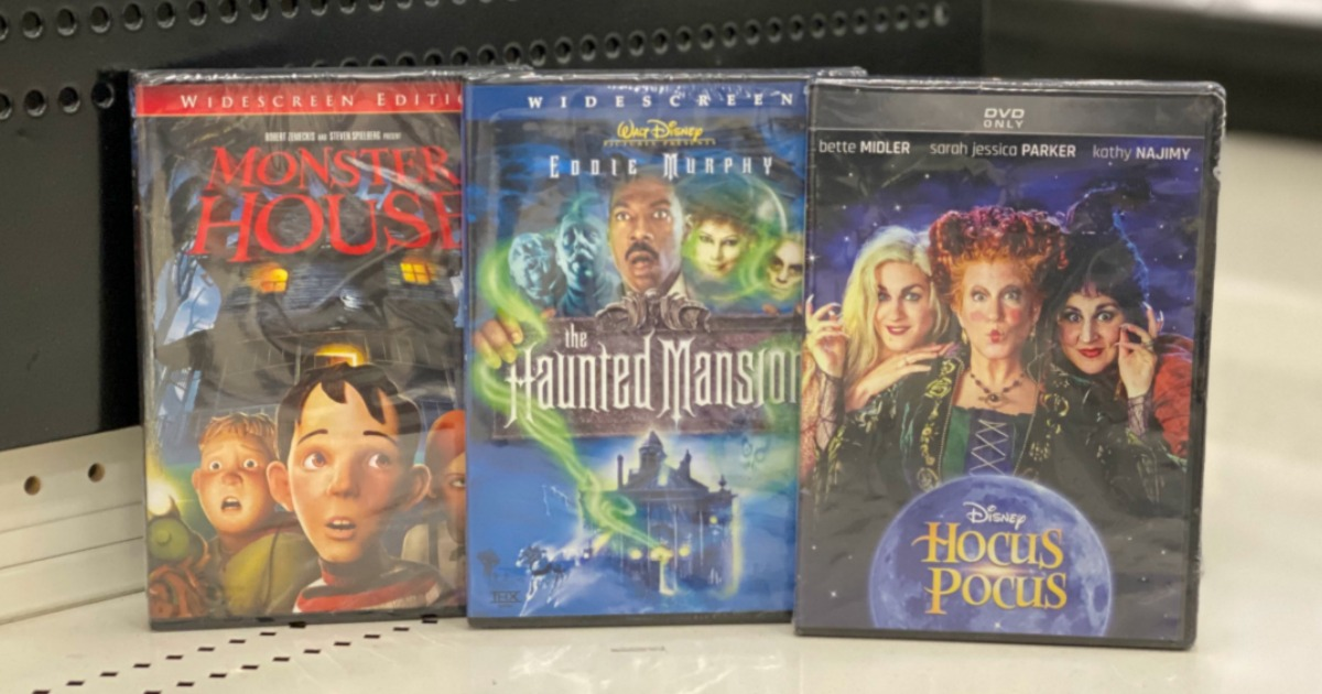 Monster Houe, The Haunted Mansion, Hocus Pocus DVDs